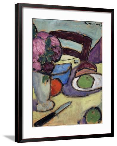 Still life with Chair and Bouquet-Alexej Von Jawlensky-Framed Art Print