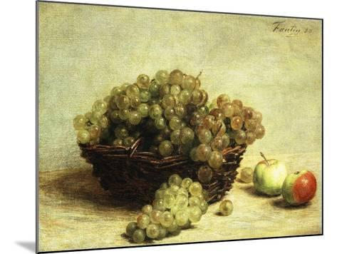 Still-life, Raisins and Apples in a Basket-Henri Fantin-Latour-Mounted Giclee Print