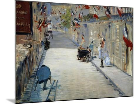 Flags in Mosnier Street-Edouard Manet-Mounted Giclee Print