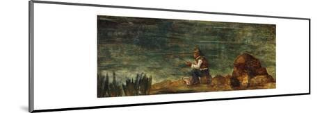 The Fisherman on the Rock-Paul C?zanne-Mounted Premium Giclee Print
