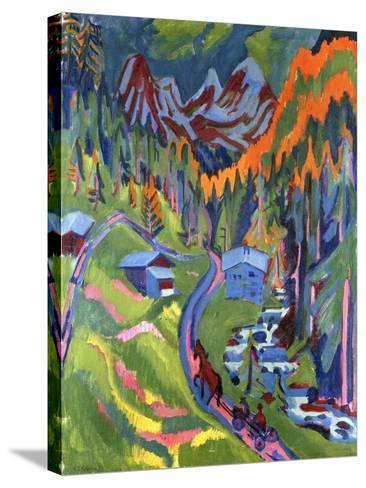 Sertig Path in Summer-Ernst Ludwig Kirchner-Stretched Canvas Print