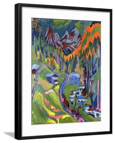 Sertig Path in Summer-Ernst Ludwig Kirchner-Framed Art Print