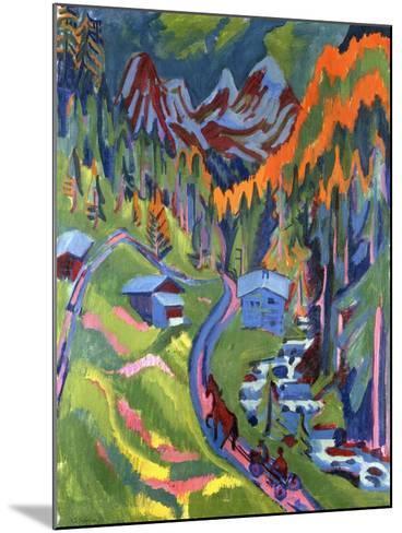 Sertig Path in Summer-Ernst Ludwig Kirchner-Mounted Giclee Print