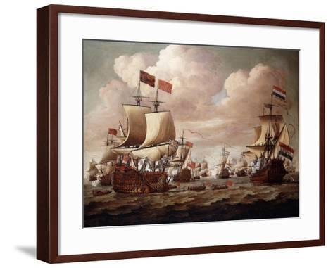 The English and Dutch Fleets exchanging Salutes at Sea-Willem Velde I-Framed Art Print