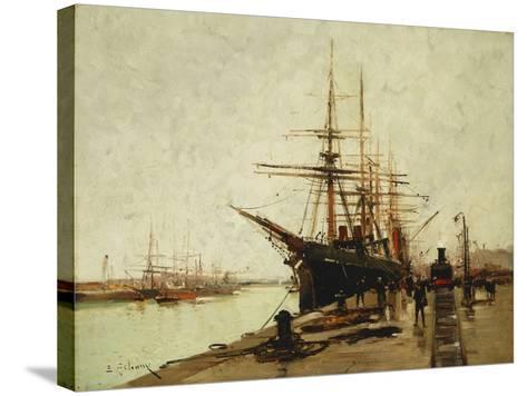 A Harbour-Eugene Galien-Laloue-Stretched Canvas Print