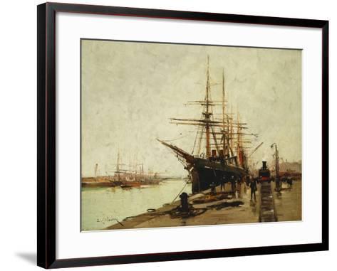 A Harbour-Eugene Galien-Laloue-Framed Art Print