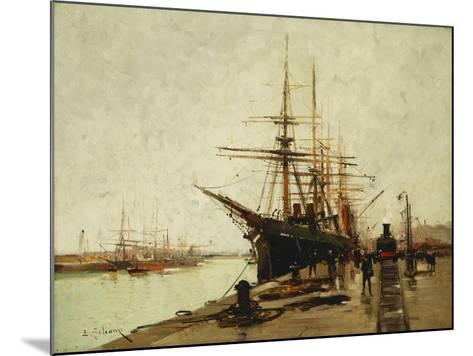 A Harbour-Eugene Galien-Laloue-Mounted Giclee Print