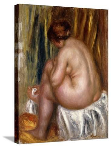 After the Bath (Nude Study)-Pierre-Auguste Renoir-Stretched Canvas Print