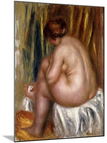 After the Bath (Nude Study)-Pierre-Auguste Renoir-Mounted Giclee Print