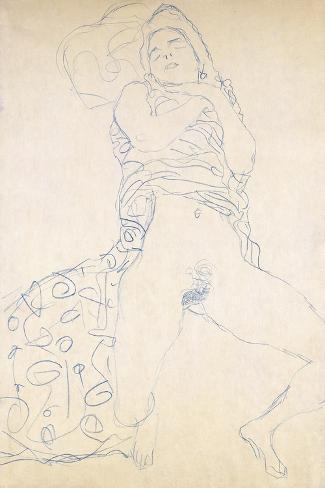 Nude-Gustav Klimt-Stretched Canvas Print