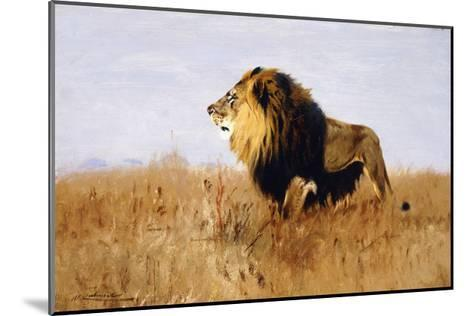 Lion Watching for Prey-Wilhelm		 Kuhnert-Mounted Giclee Print