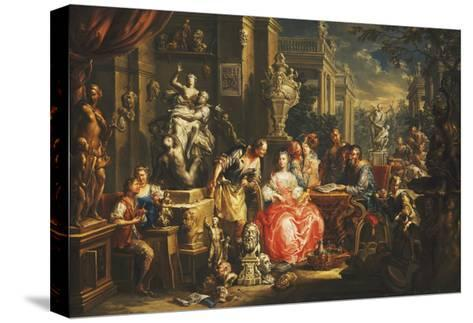 An Allegory of the Visual Arts-Johann Georg Platzer-Stretched Canvas Print