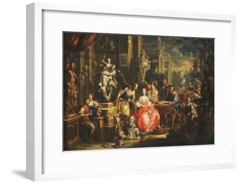An Allegory of the Visual Arts-Johann Georg Platzer-Framed Art Print