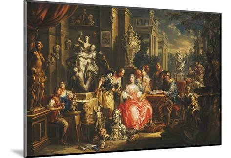 An Allegory of the Visual Arts-Johann Georg Platzer-Mounted Giclee Print