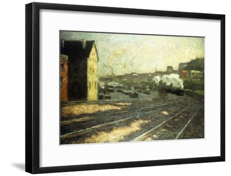 Entering the Station-Hermann Pleuer-Framed Art Print