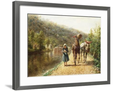 On the Towpath-Henry Edward Lamson-Framed Art Print