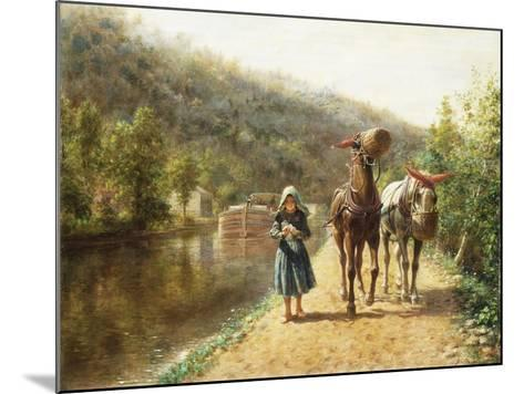 On the Towpath-Henry Edward Lamson-Mounted Giclee Print