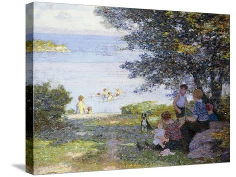 By the Water-Edward Henry Potthast-Stretched Canvas Print