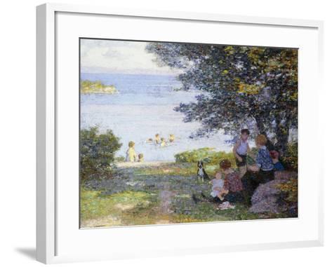 By the Water-Edward Henry Potthast-Framed Art Print