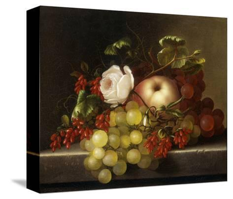 Still Life with Peach, Grapes and Rosehips-Dietrich Adelheid-Stretched Canvas Print