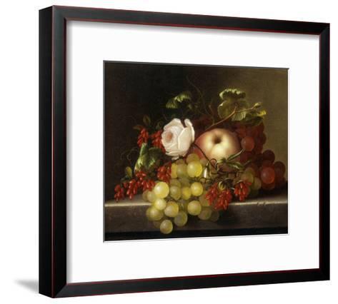 Still Life with Peach, Grapes and Rosehips-Dietrich Adelheid-Framed Art Print