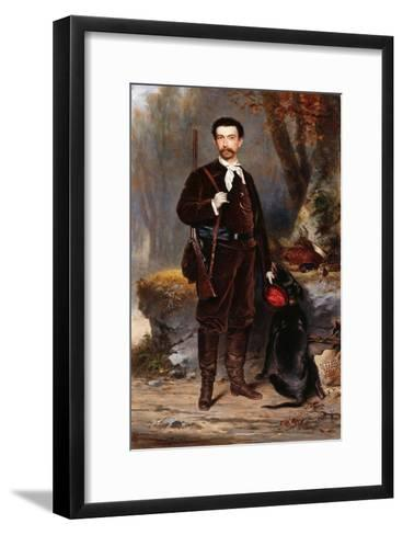 A Huntsman with a Dog-Charles Edouard Boutibonne-Framed Art Print