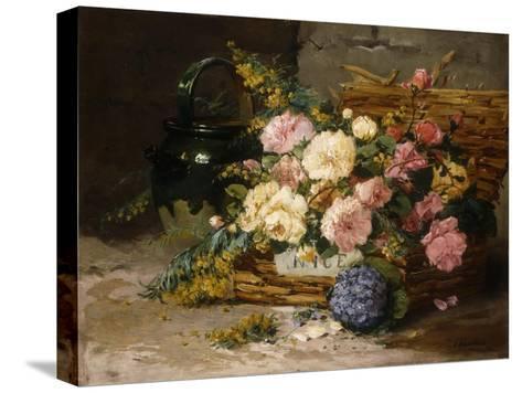 Floral Still Life (Spring)-Eugene Henri Cauchois-Stretched Canvas Print