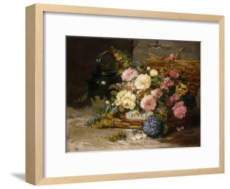Floral Still Life (Spring)-Eugene Henri Cauchois-Framed Art Print