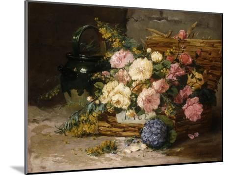 Floral Still Life (Spring)-Eugene Henri Cauchois-Mounted Giclee Print