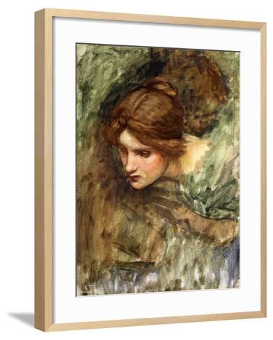 A Study for the Head of Venus-John William Waterhouse-Framed Art Print