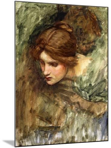 A Study for the Head of Venus-John William Waterhouse-Mounted Giclee Print