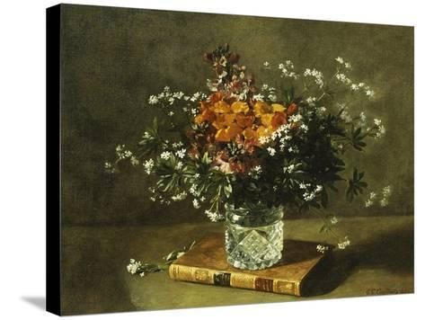 A Floral Still Life-Emile Gustave Couder-Stretched Canvas Print