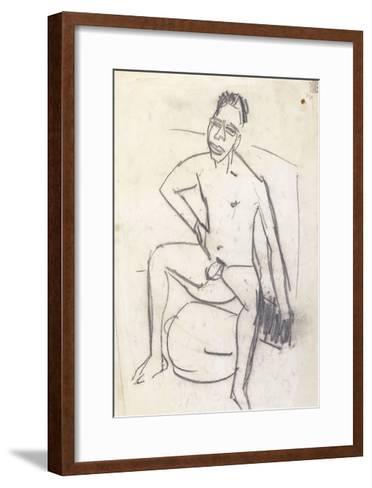 Sam the Negro (verso)-Ernst Ludwig Kirchner-Framed Art Print