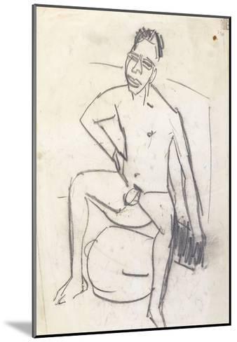 Sam the Negro (verso)-Ernst Ludwig Kirchner-Mounted Giclee Print