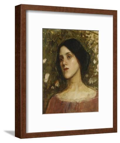 The Rose Bower-John William Waterhouse-Framed Art Print