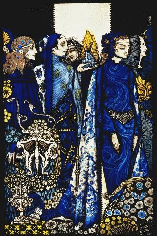 Seven dog-days we let pass, naming Queens in Glenmacnass'-Harry		 Clarke-Stretched Canvas Print