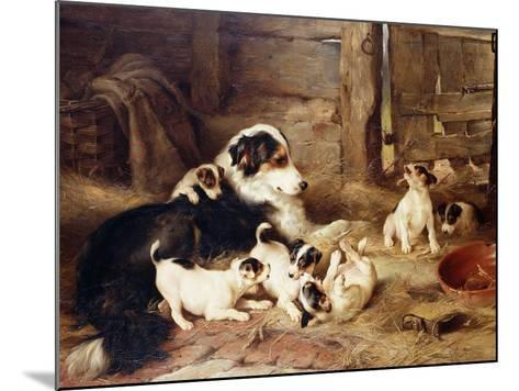 The Foster Mother-Walter Hunt-Mounted Giclee Print