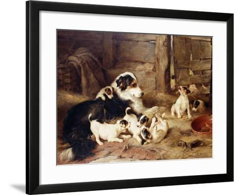 The Foster Mother-Walter Hunt-Framed Art Print