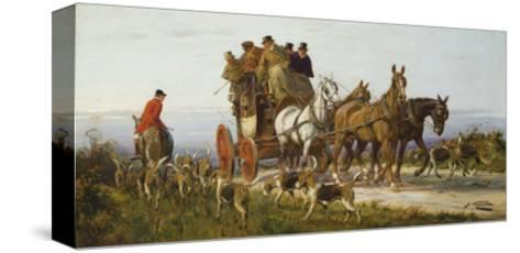Passing the Hunt-George Wright-Stretched Canvas Print