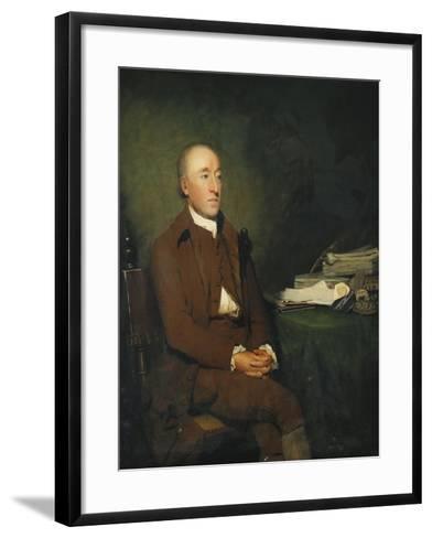 Portrait of Dr James Hutton, a Pile of Geological Specimens on the Table Beside Him-Sir Henry Raeburn-Framed Art Print