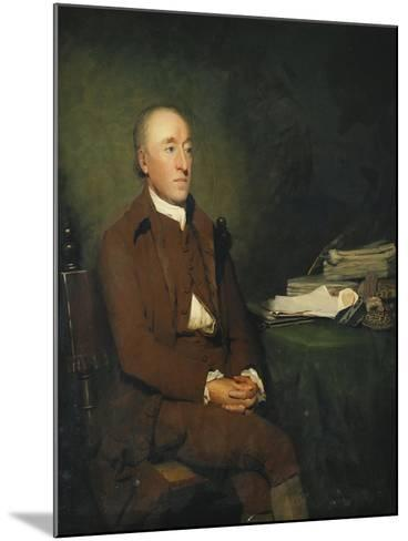 Portrait of Dr James Hutton, a Pile of Geological Specimens on the Table Beside Him-Sir Henry Raeburn-Mounted Giclee Print