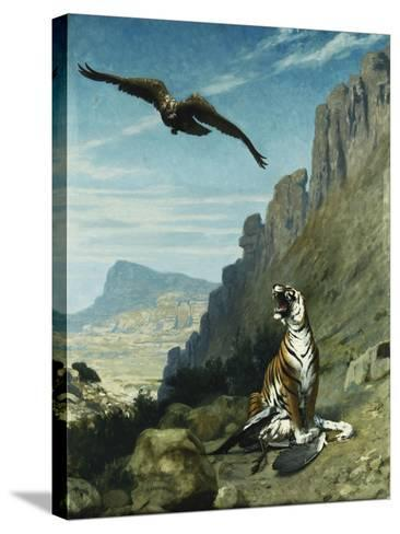 Tiger and Vulture-Jean Leon		 Gerome-Stretched Canvas Print