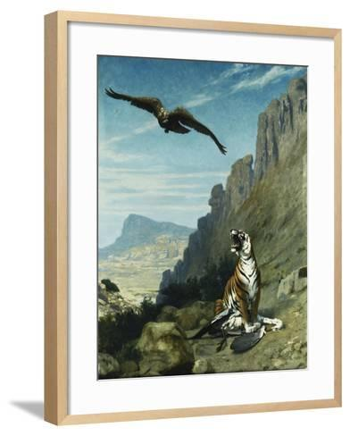 Tiger and Vulture-Jean Leon		 Gerome-Framed Art Print