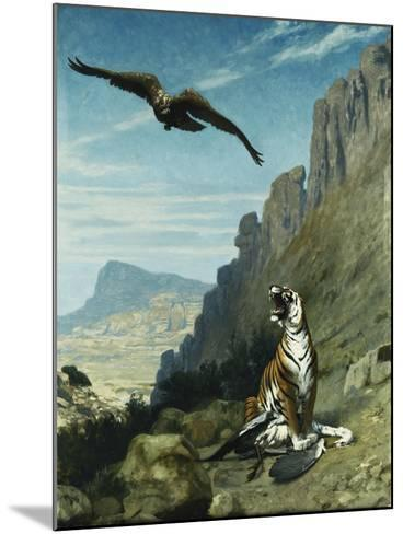 Tiger and Vulture-Jean Leon		 Gerome-Mounted Giclee Print