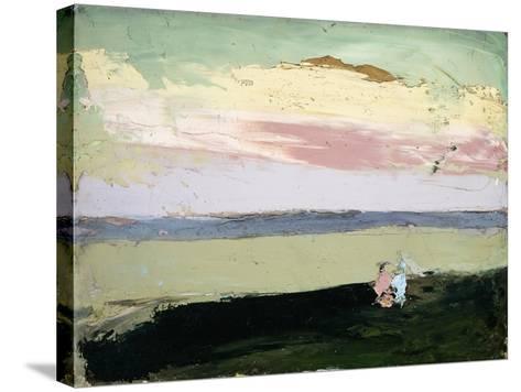 Coastal Scene at Sunset-Robert Henri-Stretched Canvas Print