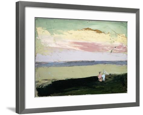 Coastal Scene at Sunset-Robert Henri-Framed Art Print