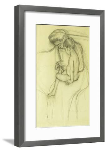 The Pedicure-Mary Cassatt-Framed Art Print
