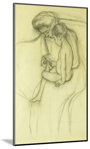 The Pedicure-Mary Cassatt-Mounted Giclee Print