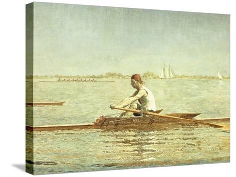 John Biglin in a Single Scull-Thomas Cowperthwait Eakins-Stretched Canvas Print