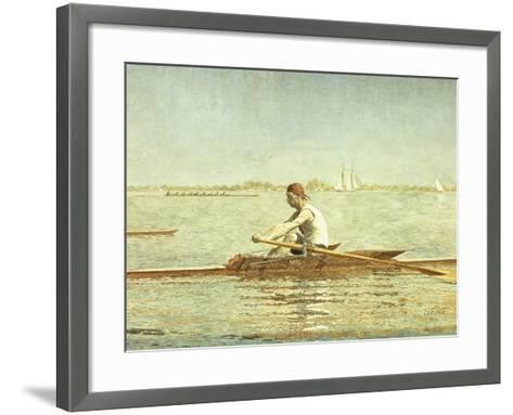 John Biglin in a Single Scull-Thomas Cowperthwait Eakins-Framed Art Print